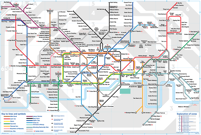 London metro underground map