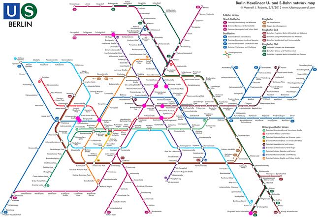 Außergewöhnlich Berlin Metro Map @DF_53