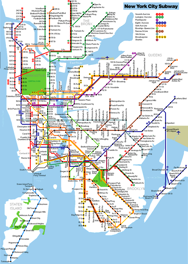 New York City Full Subway Network