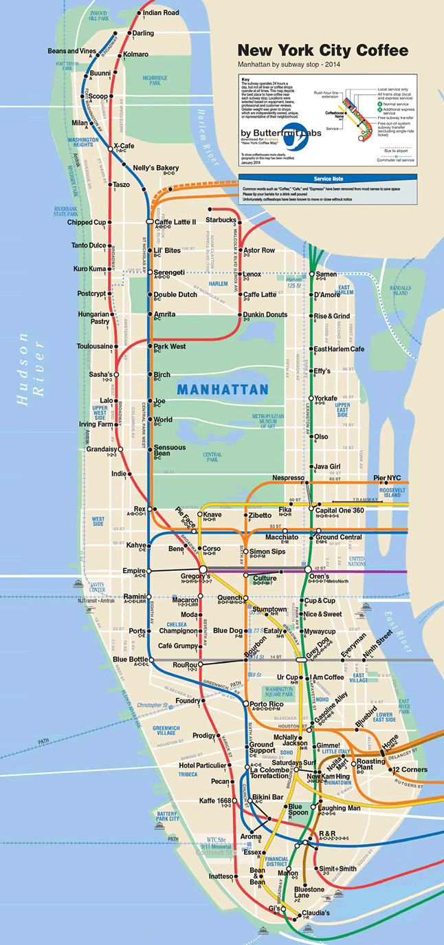 Subway Map In Manhatten.Nyc Subway Map