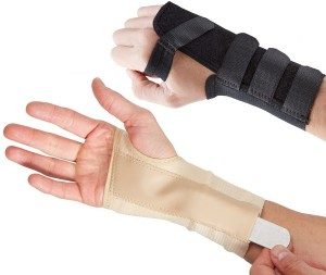How to cure wrist sprain?